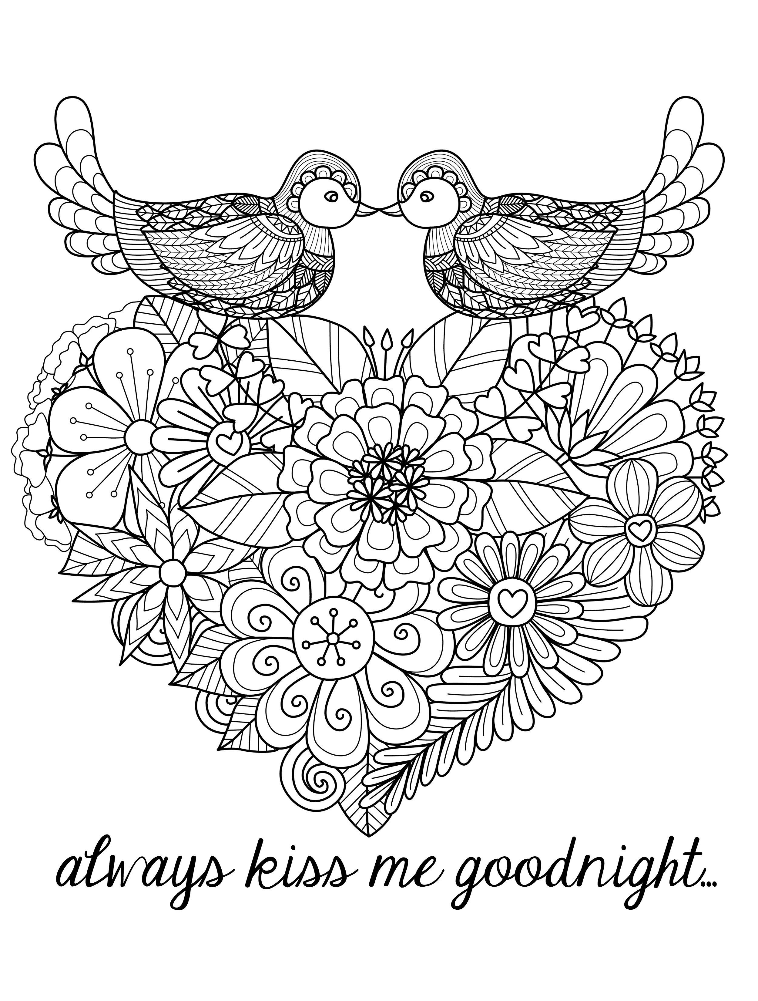 Coloring pages for adults crosses - 20 Free Printable Valentines Adult Coloring Pages