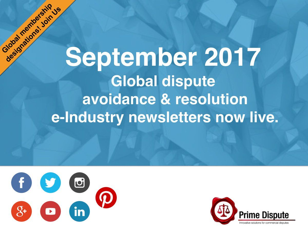 September  Global Dispute Avoidance  Resolution Monthly E