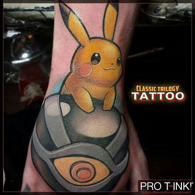 Fun #newschool Pokemon cover-up by Pro T-Ink Proteam Artist @bulman_tattoos  at @classictrilogytattoos!  #pokemon #pikachu #newschooltattoo pokemontattoo #thombulman #bulmantattoo #protink #proteam #evo24 #tattoostation #inkpalette #revolutionary #tattoo #equipment  EVO Tattoo Workstation:  http://ift.tt/2ekrXQo