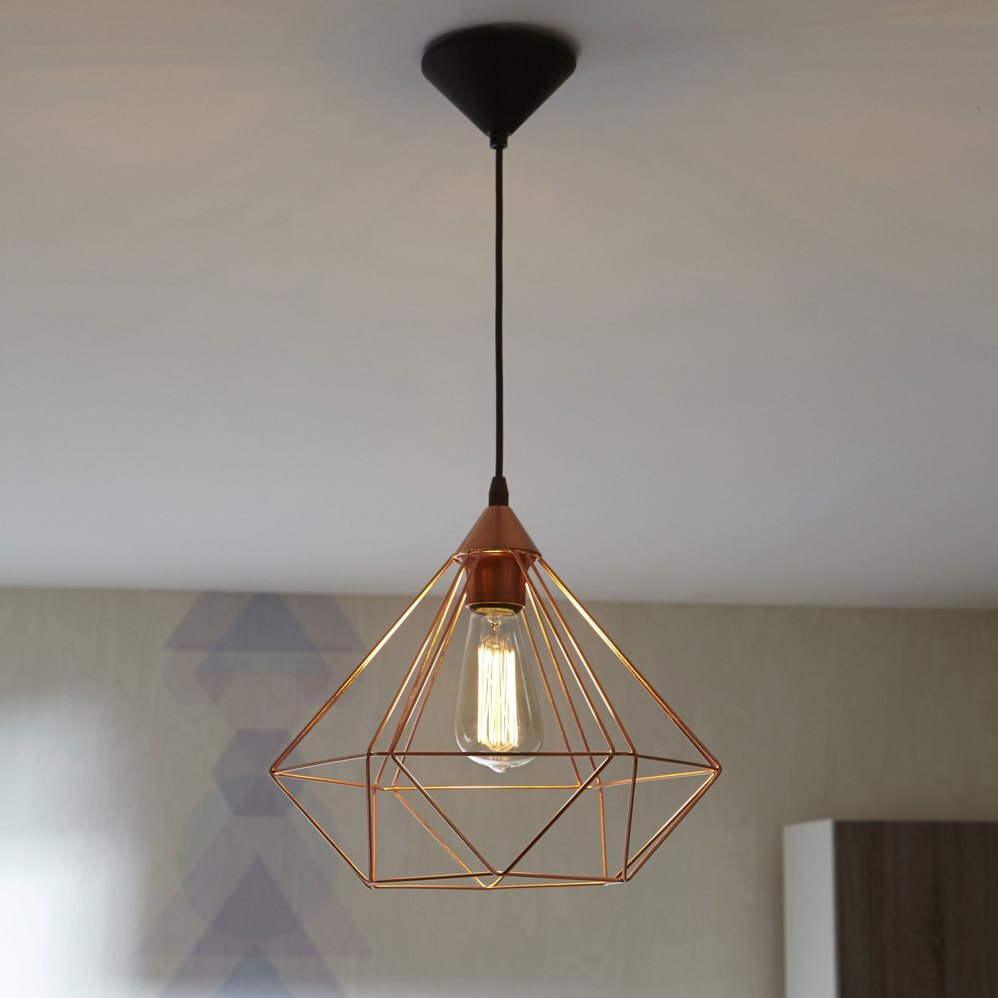 Suspension Metal Design Suspension Design Tarbes Métal Cuivre 1 X 60 W Eglo