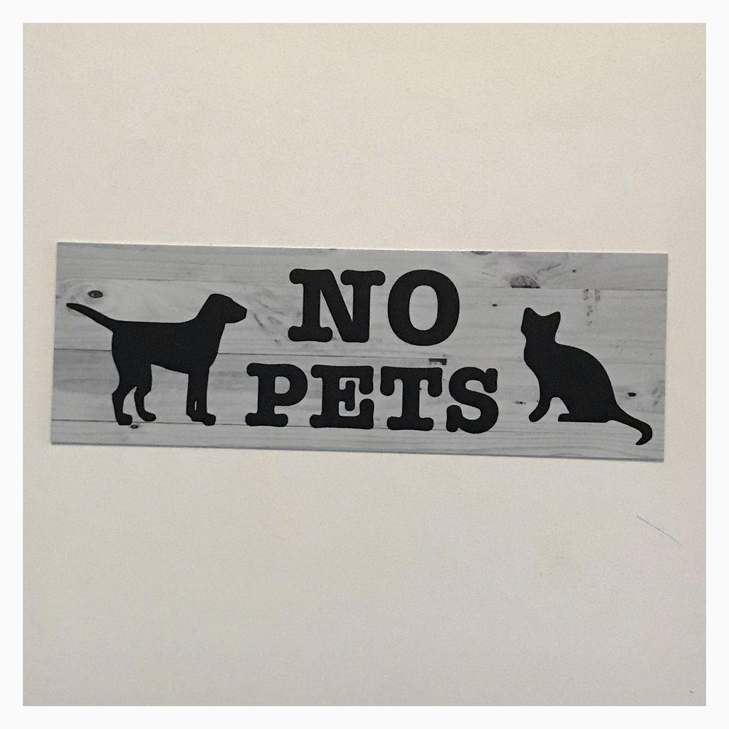 No Pets Cat Dog Sign