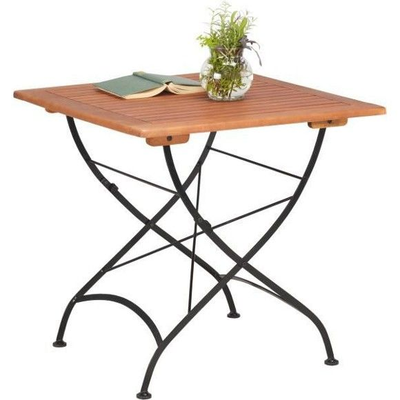 Dieser Dekorative Gartentisch Hat Eine Tischplatte Aus Massivem