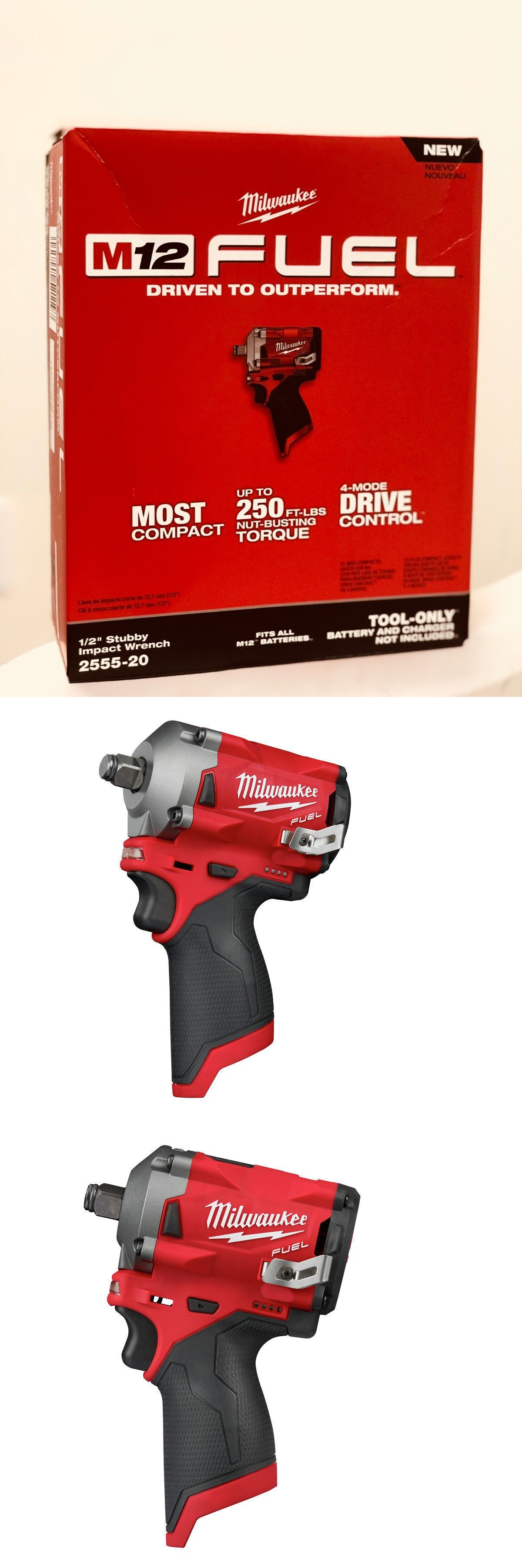 New In Box Milwaukee 2555 20 M12 Fuel Stubby 1 2 In Impact Wrench W Ring Impact Wrench Impact Wrenches Wrench