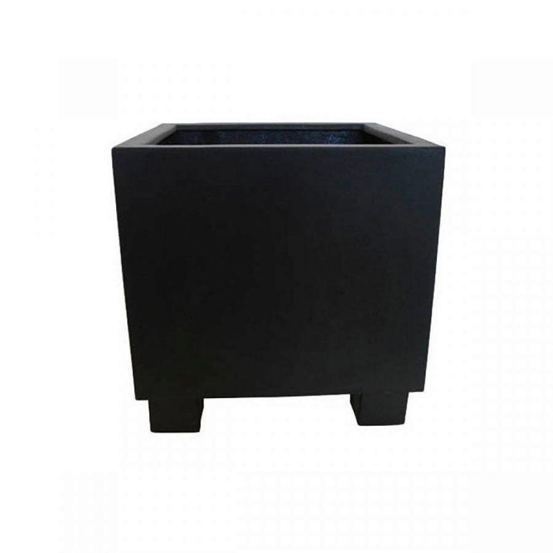 Stonfibre Jumbo Cube Square Black Planter W90 H90 L90 cm | Pot ... on jumbo candles, jumbo toys, jumbo wall art,