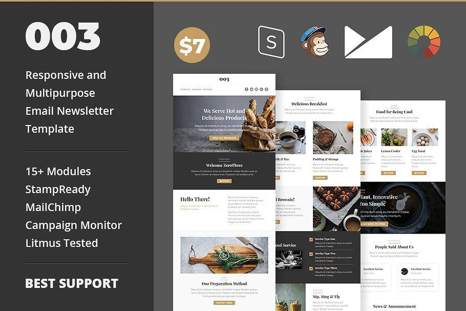 responsive and multipurpose email newsletter template for personal