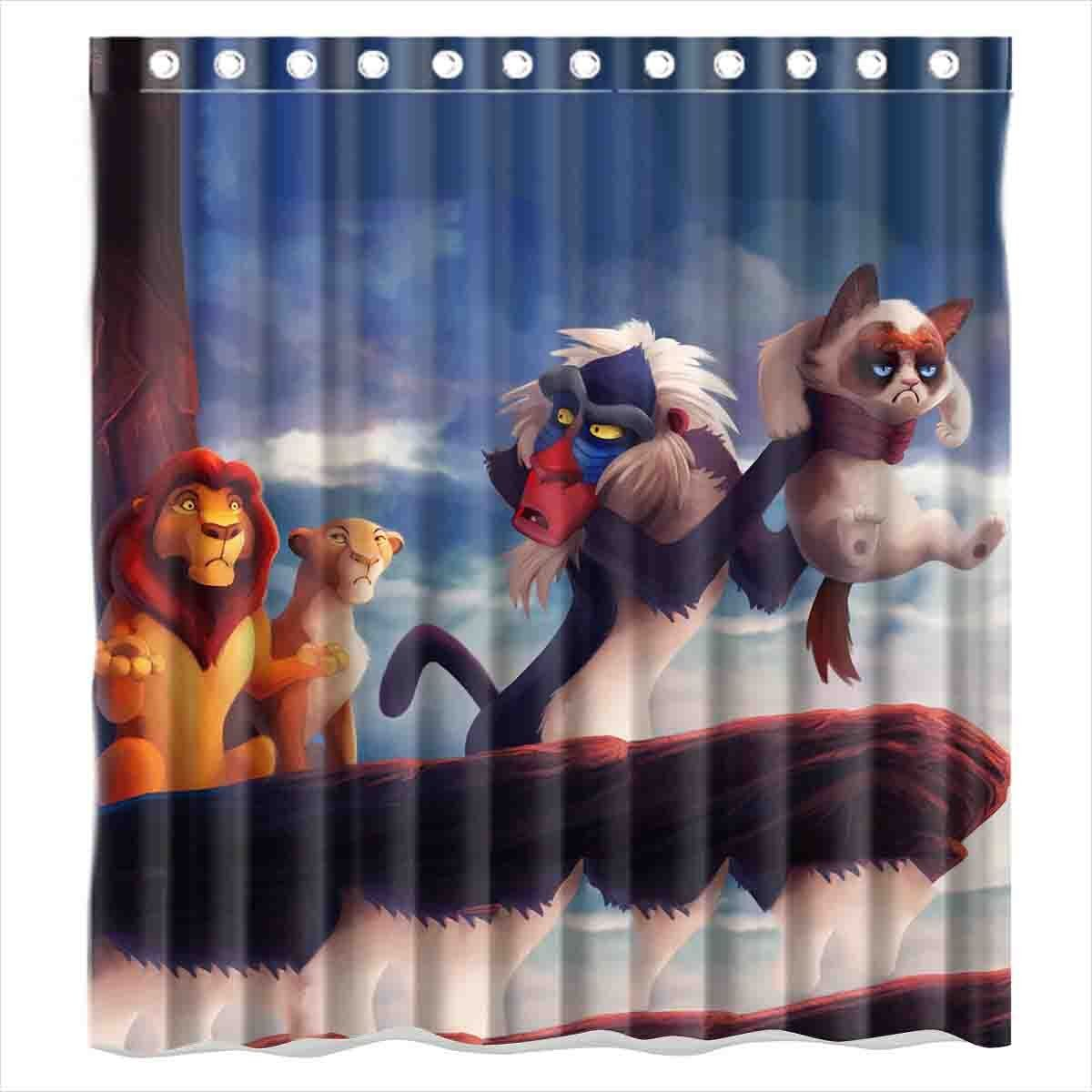 Amazon Com Custom Lion King And Grumpy Cat Waterproof Polyester