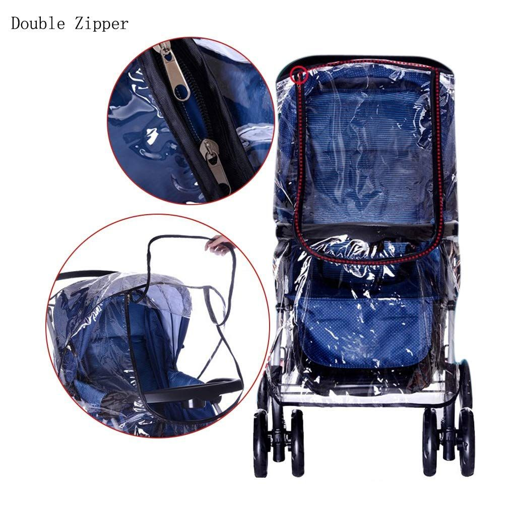 Universal Raincoat Cover For Pushchair Pram Buggy Stroller Car Front Open Cover