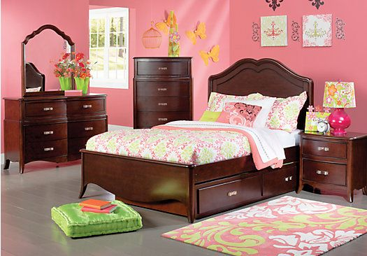 Shop for a Nicolette Cherry 5 Pc Full Bedroom at Rooms To Go Kids ...