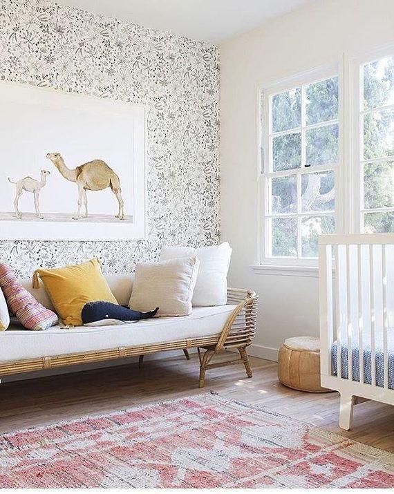 Minimalist Crib Bedding Blue White Crib Sheet Woodland