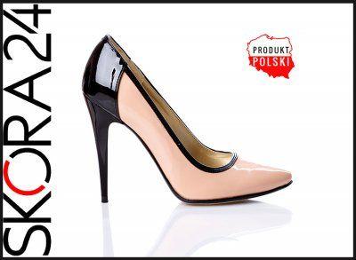 A17 Paula Czolenka Szpile Pudrowy Roz Czarny 33 43 6279164231 Oficjalne Archiwum Allegro Stiletto Heels Heels Stiletto