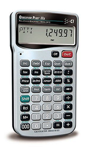 Calculated Industries 3415 Qualifier Plus IIIX Real Estate Finance - financial calculator