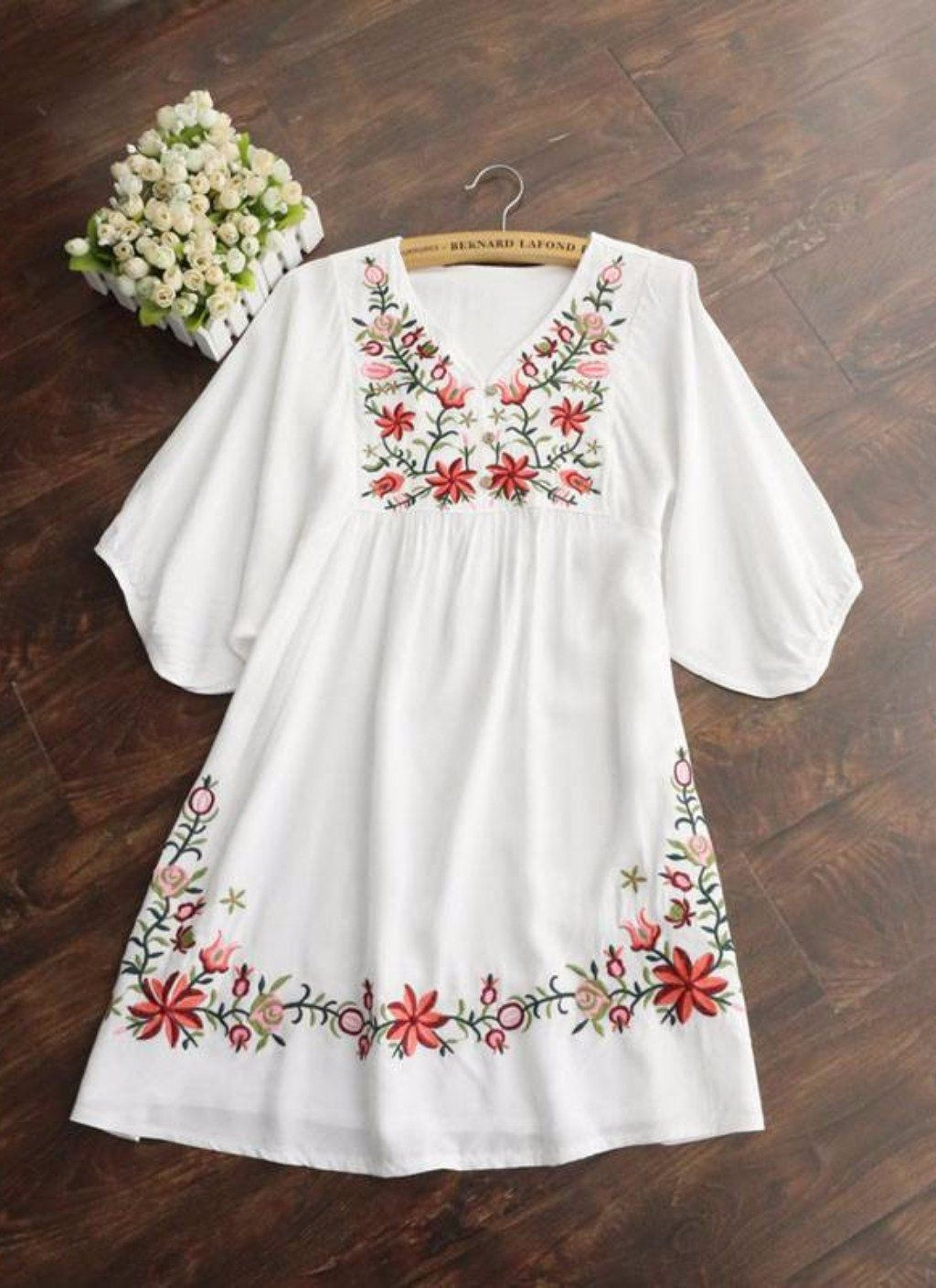 Colorpop floral embroidery trim embellish an airy cotton minidress