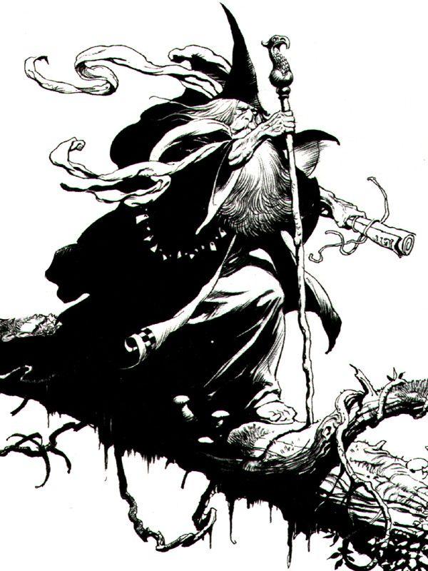 Gandalf. Art by Frank Frazetta.   Sketch tools   Pinterest   Gandalf ...
