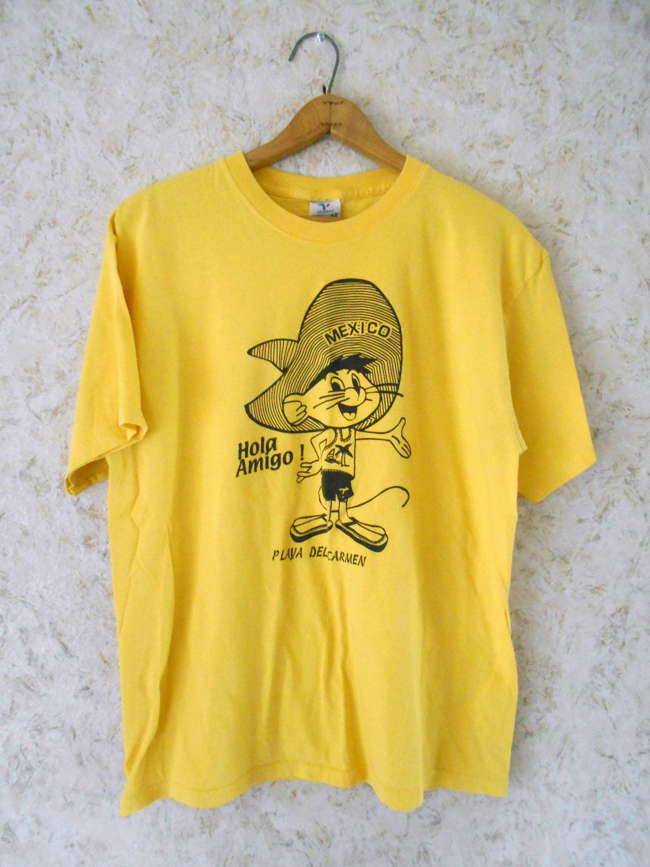 ece3b11beb1533 Vintage 80s 90s Speedy Gonzales Mexico Tee T Shirt Tourist Hola Amigo Playa  Del Carmen Retro Cartoon Hipster Hip Hop Mens Size Large by CoolDogVintage  on ...