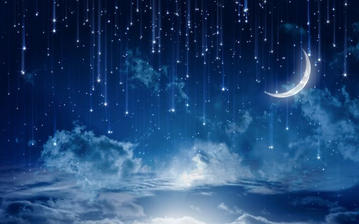 Sky Moonlight Nature Night Stars Clouds Rain Landscape Moon Wallpaper Background Night Sky Wallpaper Night Sky Stars Star Wallpaper