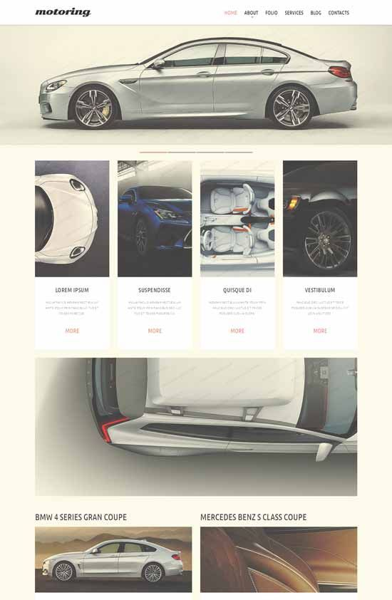 Mortoring-Car-Club-Responsive-Website-Template | Car Website Design
