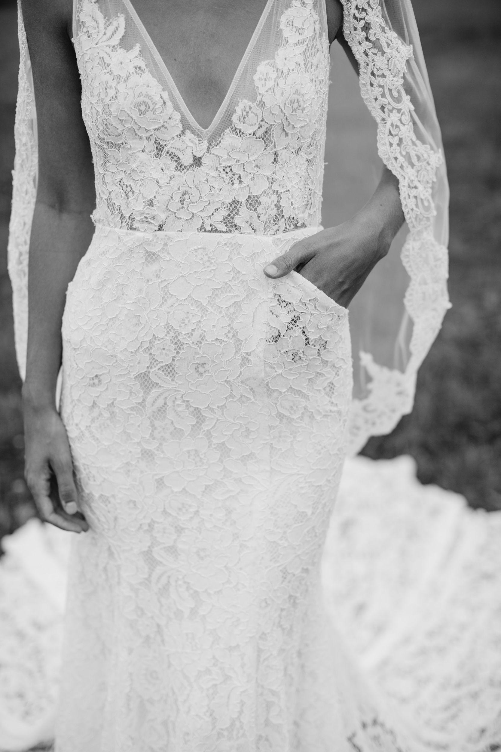 Low back lace wedding dress Frankie ewithlovebridal