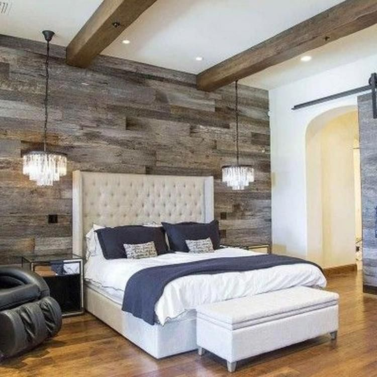 Barn Wood Accent Wall Bedroom: 35+ Incredible Master Bedroom Ideas You Should Try
