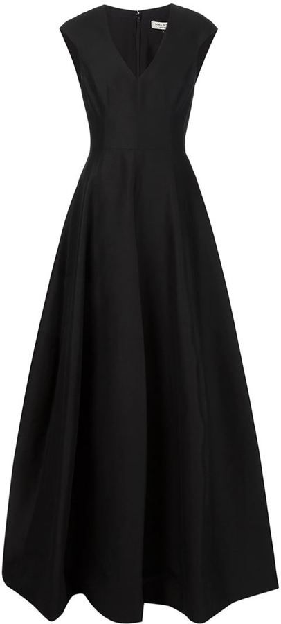 Halston Heritage v-neck evening gown https://api.shopstyle.com ...