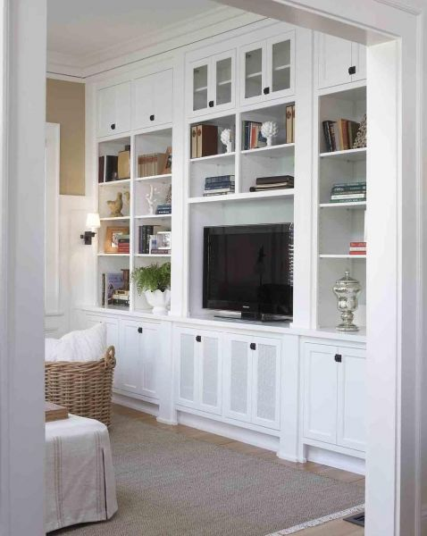 Before After Living Room Wall Units Built In Cabinets Cabinet Doors