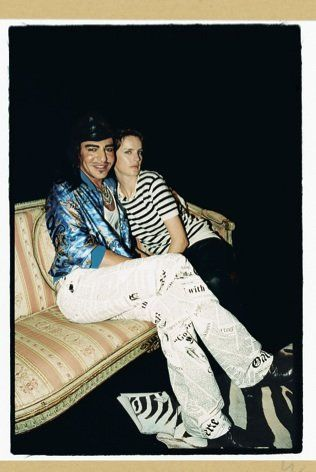 John Galliano and Stella Tennant