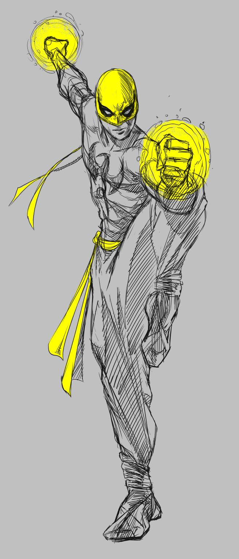 Iron Fist Sketch Iron Fist Marvel Superhero Art Iron Fist