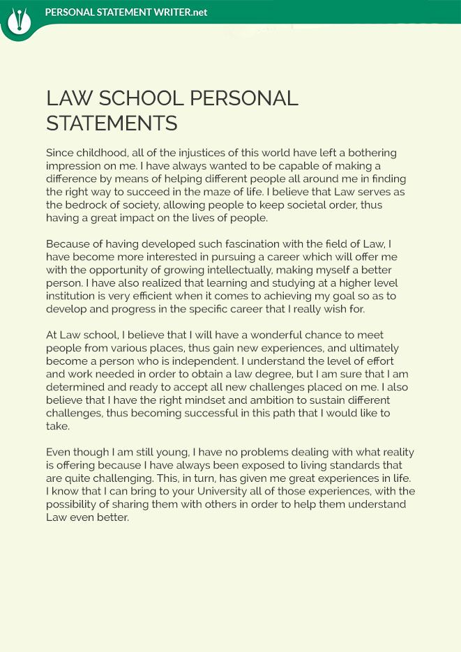 When you are writing your law school personal statement, you must - law school personal statement