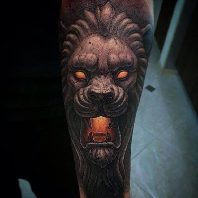 be8697b98 Stone Lion Tattoo | Tattoo - Animals | Lion tattoo, Elegant tattoos ...