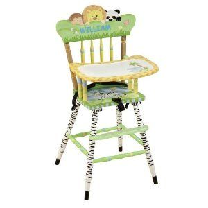 Safari High Chair Painted High Chairs Hand Painted Chairs
