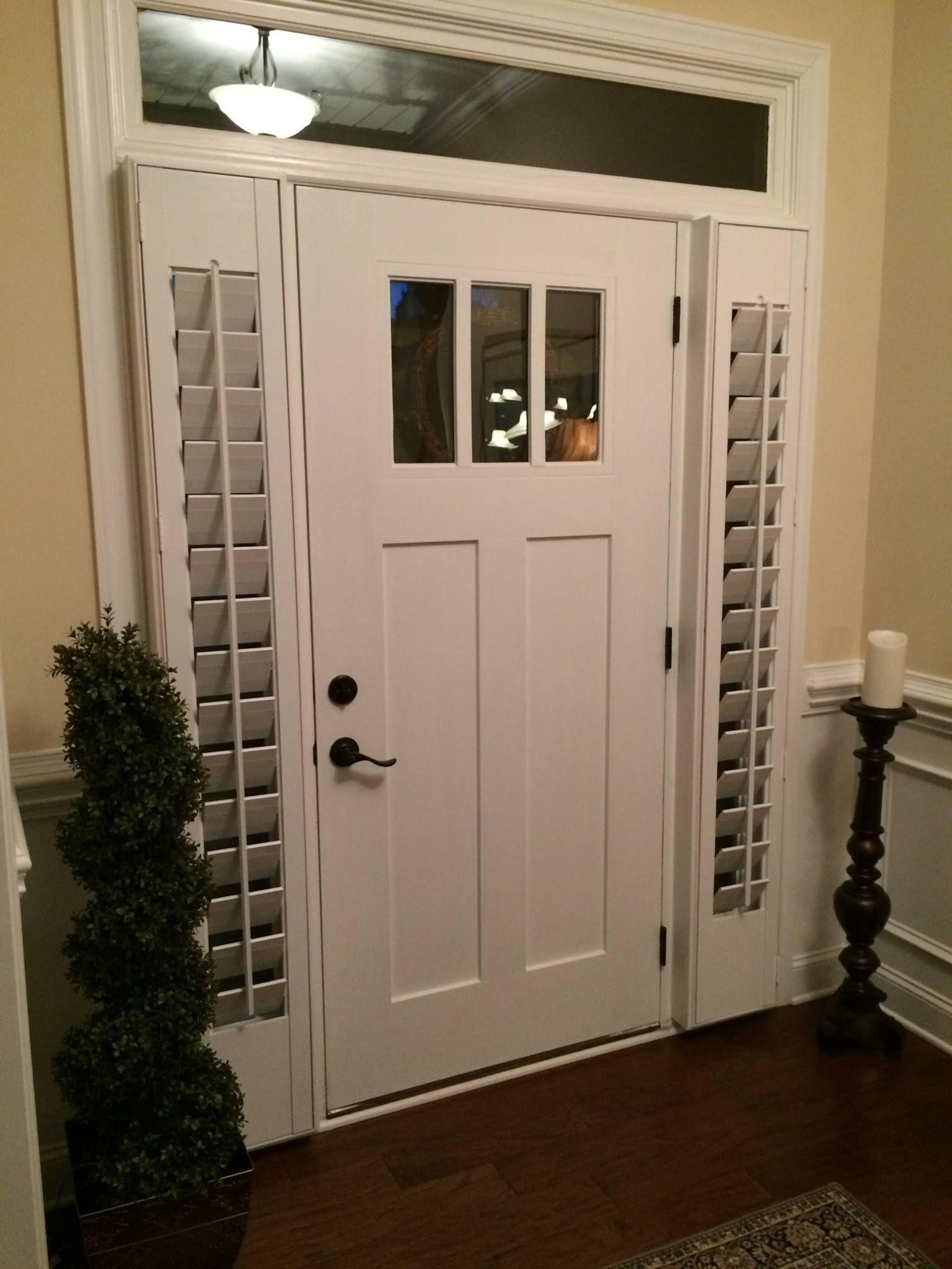 Front Door Side Window Shutters