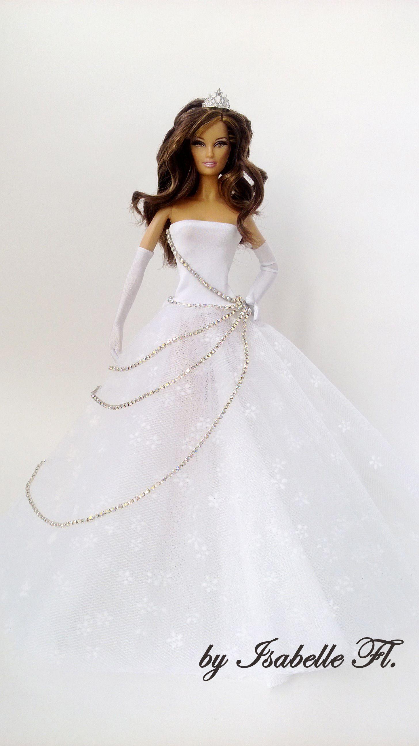 1..4 Lara\'s wedding dress by Isabelle Fl | BARBIE SCHNITTMUSTER ...