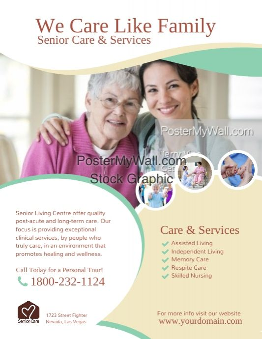 Senior Care & Services Flyer Poster (With Images)