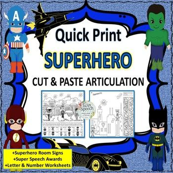UP! UP! IN AWAAAAAAAAY!Put on your cape and fly into easy articulation practice sessions with a large variety of students with this quick print black-ink product.We have targeted 31 sounds in this comprehensive packet and each sound has up to two worksheets each.