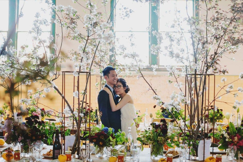 Rustic wedding reception at the old factory | fabmood.com #wedding #rusticwedding #factorywedding