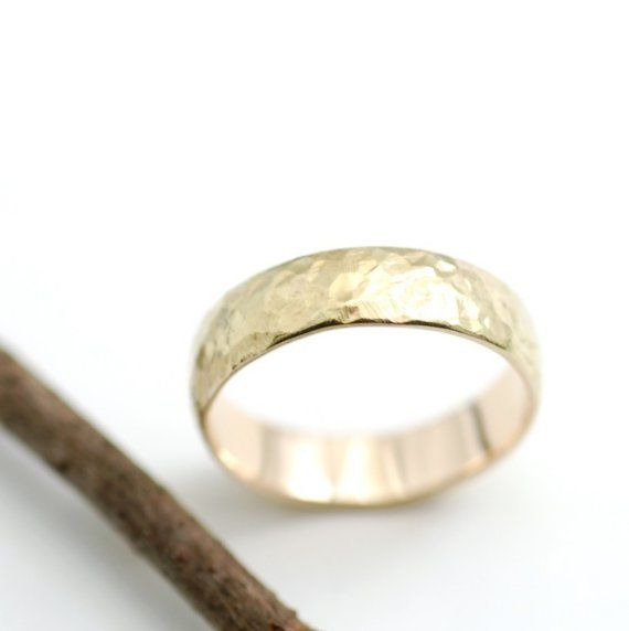 Love Rocks Wedding Ring  5mm 14k Yellow Gold by BethCyrWeddings, $620.00