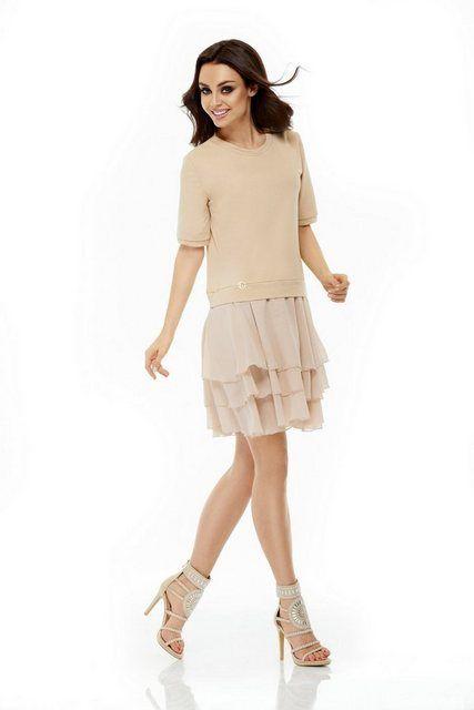 lemoniade Kleid mit kurzen Ärmeln »L244«, Hochwertig aus ...