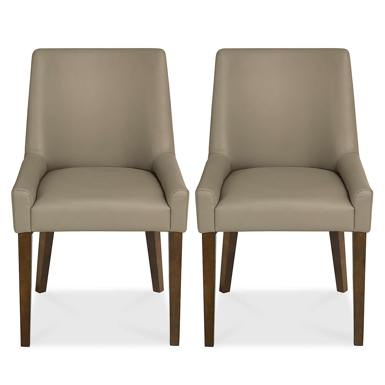 Logan Walnut Pair Of Dining Chairs