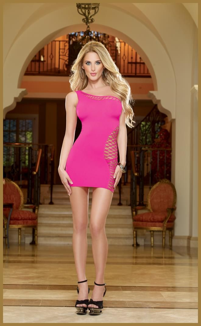 Seamless One Shoulder Dress and G-String