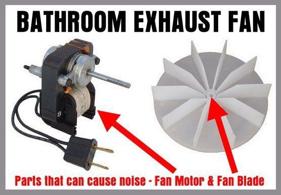 Noisy Bathroom Exhaust Fan How To Easily Fix Without Replacing Bathroom Exhaust Fan Bathroom Exhaust Exhaust Fan