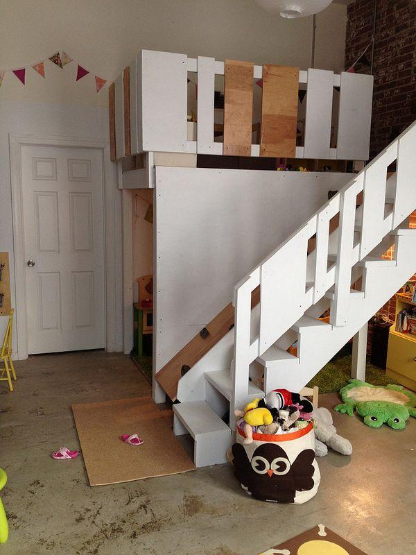 Kinderzimmermöbel selber bauen  Kinderzimmer mit Hochbett | Kinderzimmer | Pinterest ...