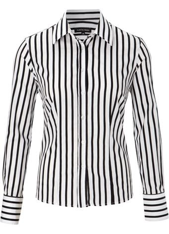 Black Satin Stripe Shirt Shirts Austin Reed