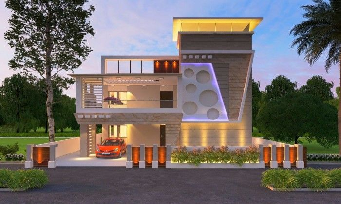 3d exterior elevation home pinterest front elevation for Best house designs indian style