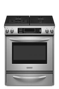30 Inch 4 Burner Gas Slide In Range Architect Series Kgss907sbl Kitchen Aid Kitchen Aid Appliances Gas Range