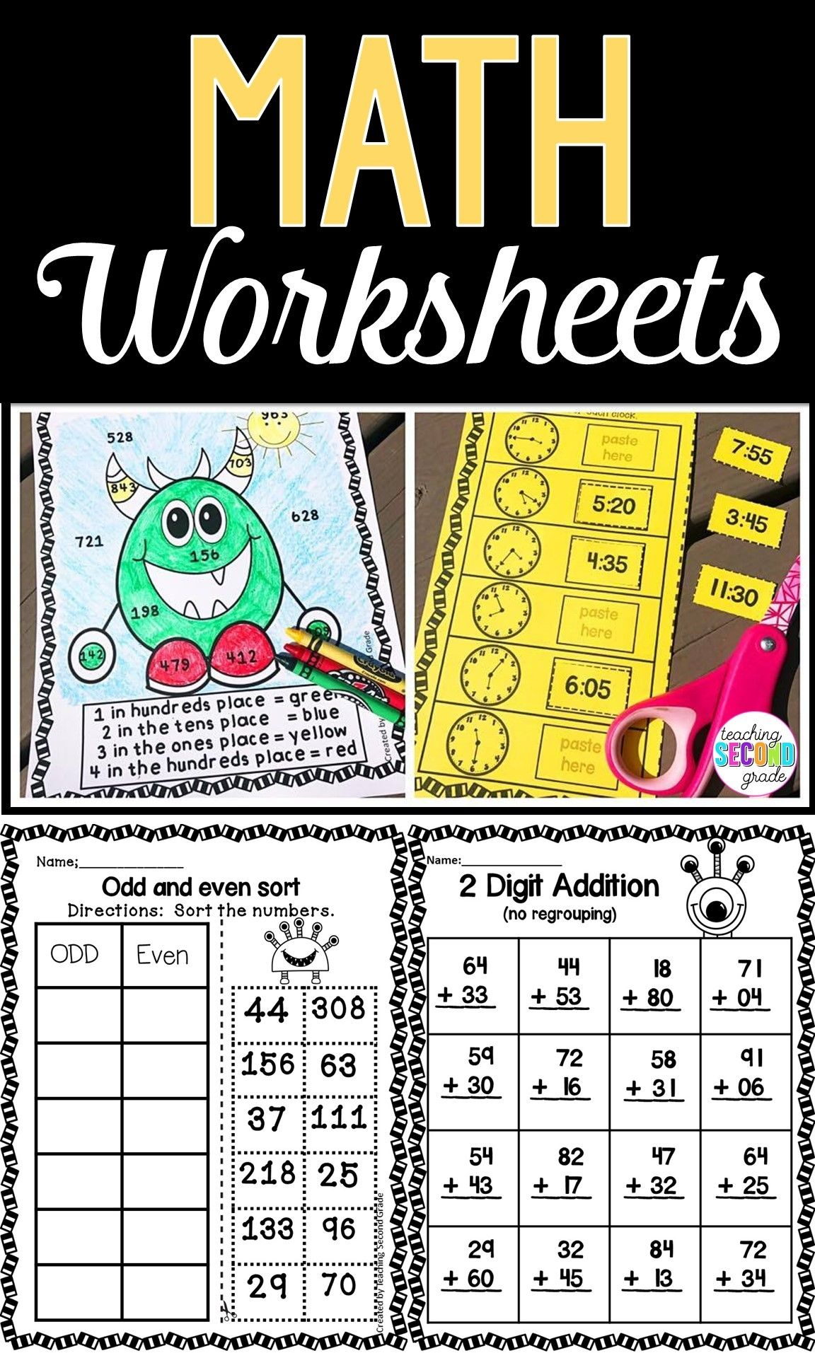 Math Worksheets 1st Grade | Math skills, Doubles addition and Math ...