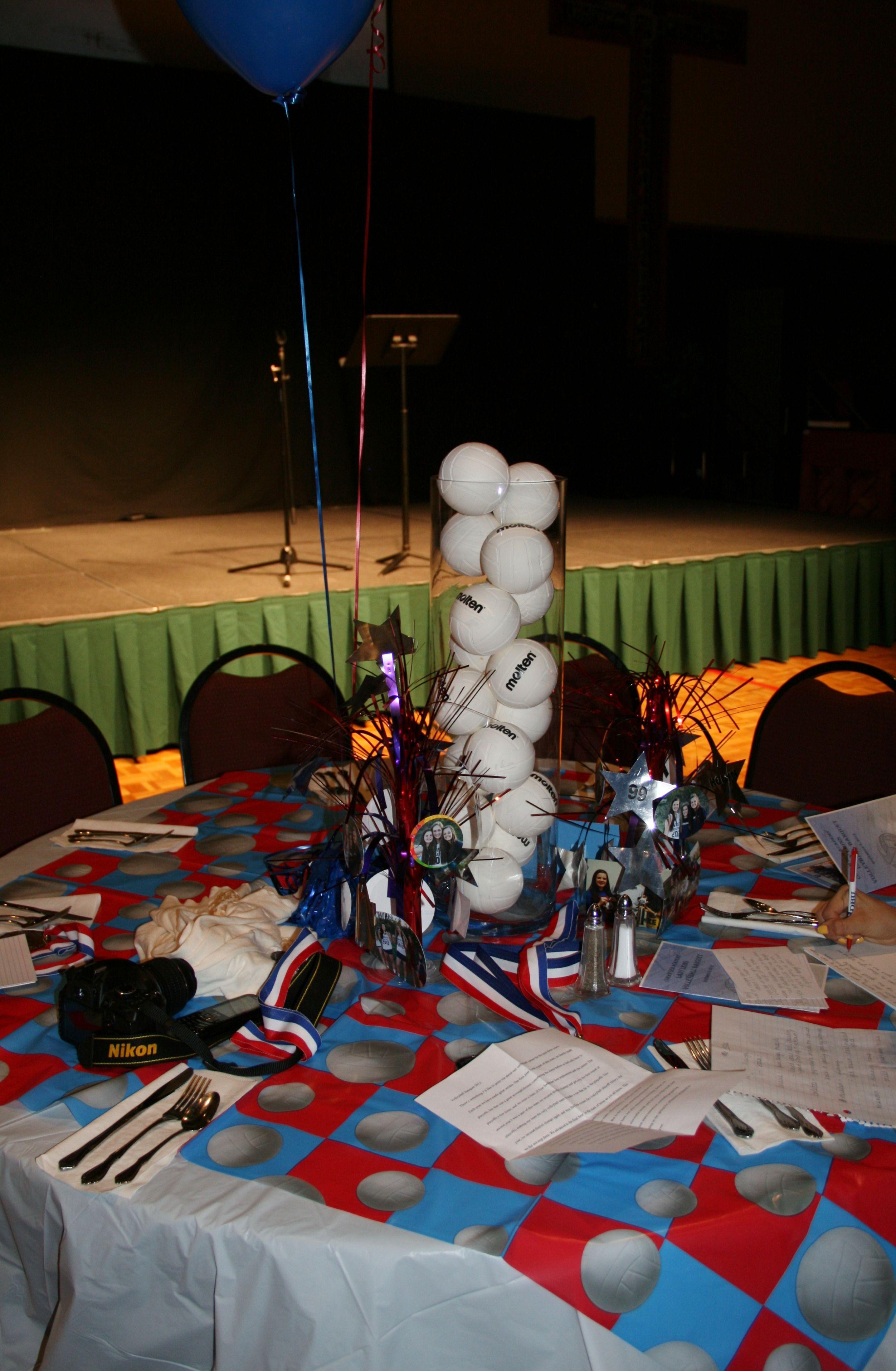 Volleyball Banquet 2012 Volleyball Crafts Sports Banquet Ideas Table Decorations Sports Decorations