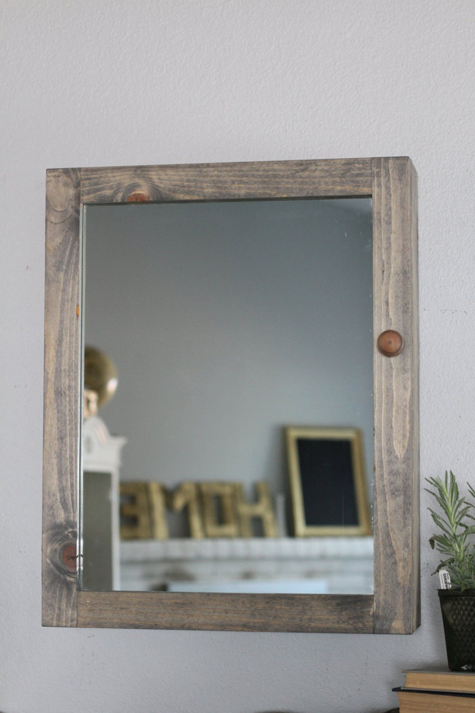 Bathroom wall medicine bathroom mirror