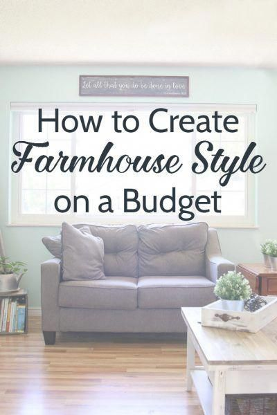 How To Decorate Farmhouse Style On A Budget Get That Fixer Upper Look You Love For Homedecoronabudget Home Ideas In 2018 Pinterest