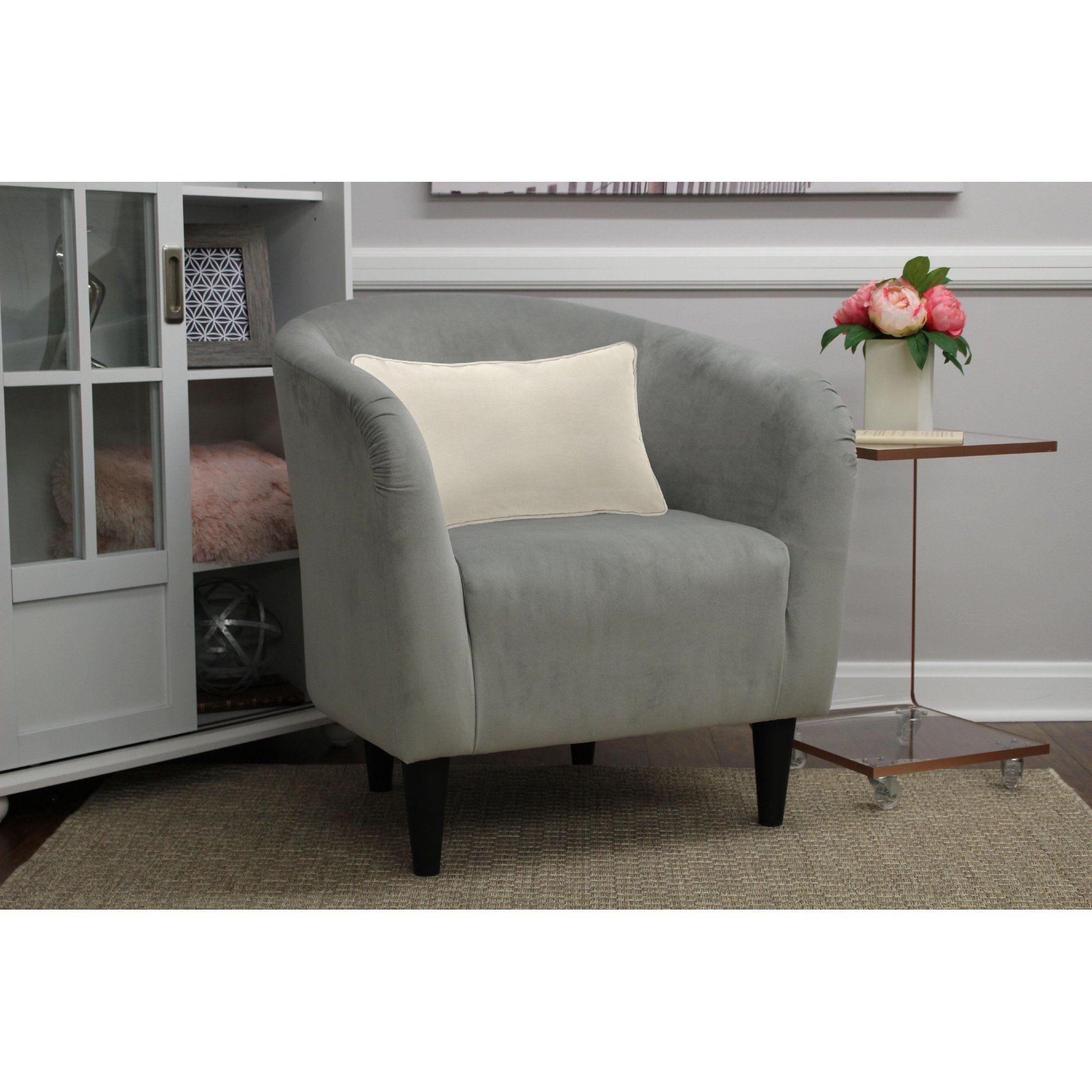 Mainstays Microfiber Tub Accent Chair