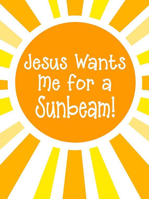 Jesus Wants Me For A Sunbeam Primary Handout Sunbeam Handout