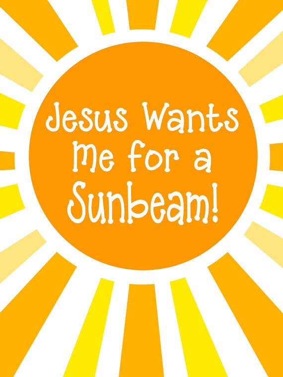 Jesus Wants Me For A Sunbeam Primary Handout Sunbeam Handout